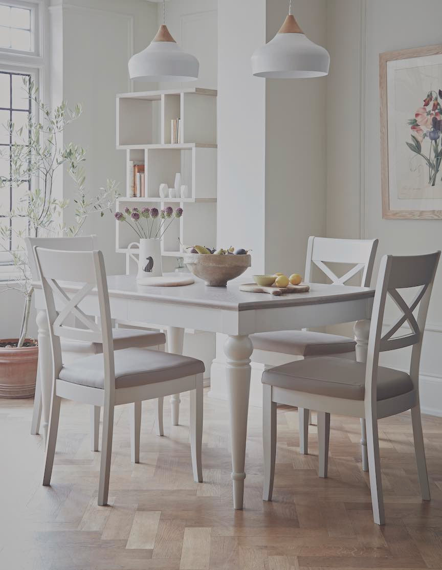 extending dining table and chair set