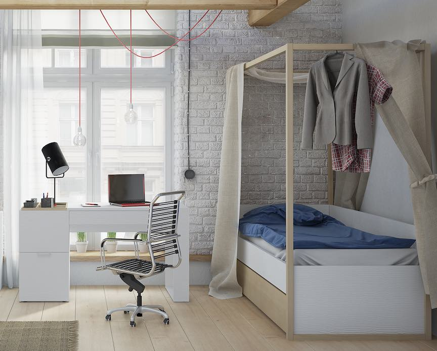 make a child's bedroom feel more spacious