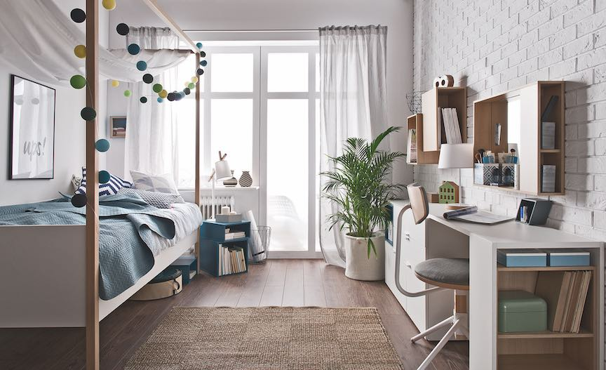 make a child's bedroom feel larger