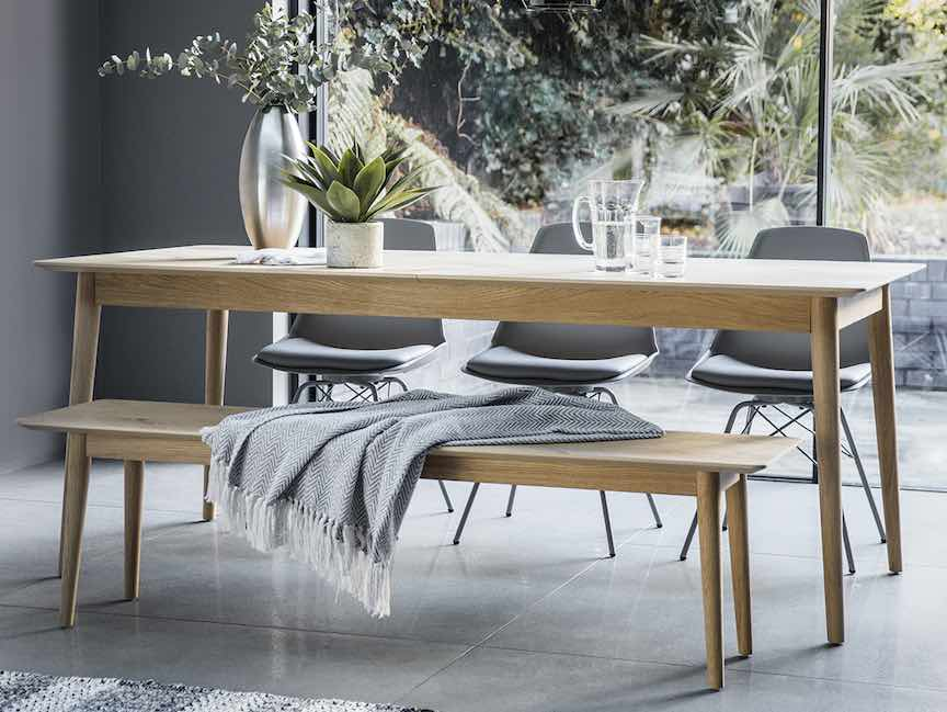 Space-saving dining tables extending dining table
