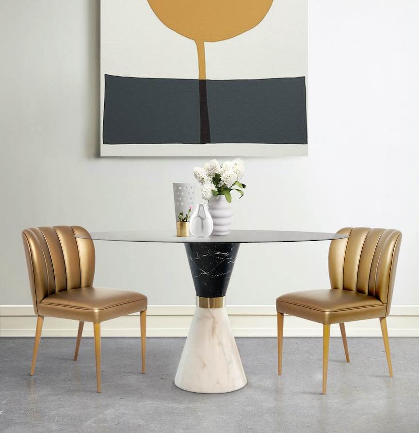 Space-saving dining tables